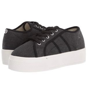NWOT Rock and Candy Black Canvas Sneakers Size 6.5